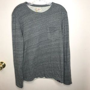 Faherty Brand Gray Slub Knit Tee Shirt Sz S NWT